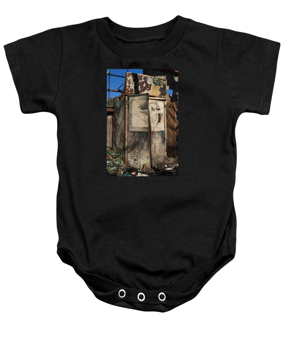 Pepsi Baby Onesie featuring the photograph Burnt Pepsi Offering by Scott Campbell