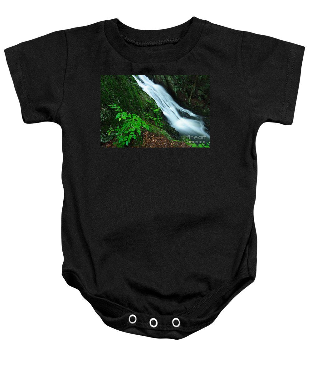 Flowing Baby Onesie featuring the photograph Buttermilk Falls Gorge by JG Coleman