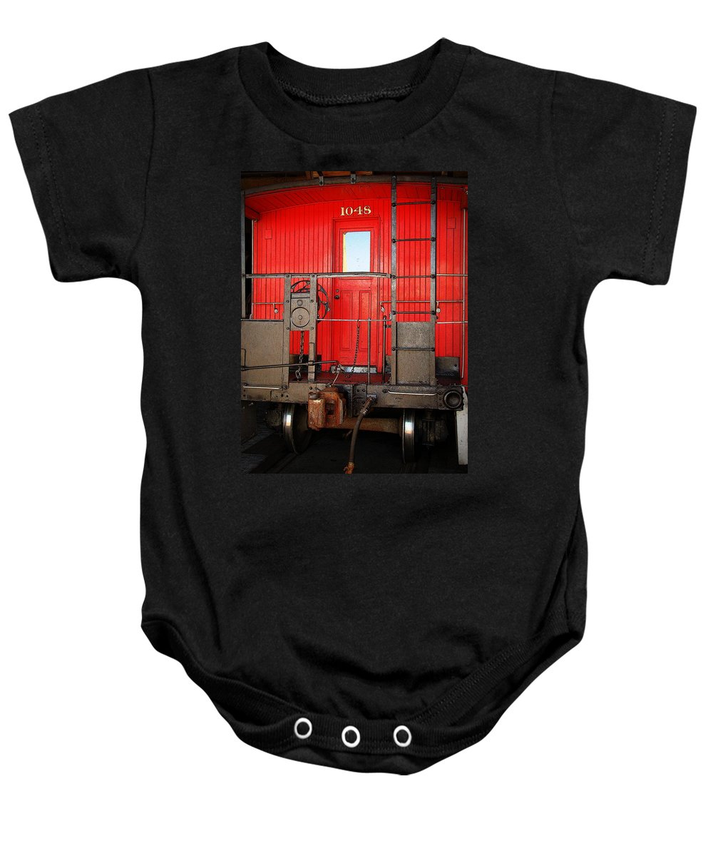 Fine Art Baby Onesie featuring the photograph Caboose by Rodney Lee Williams