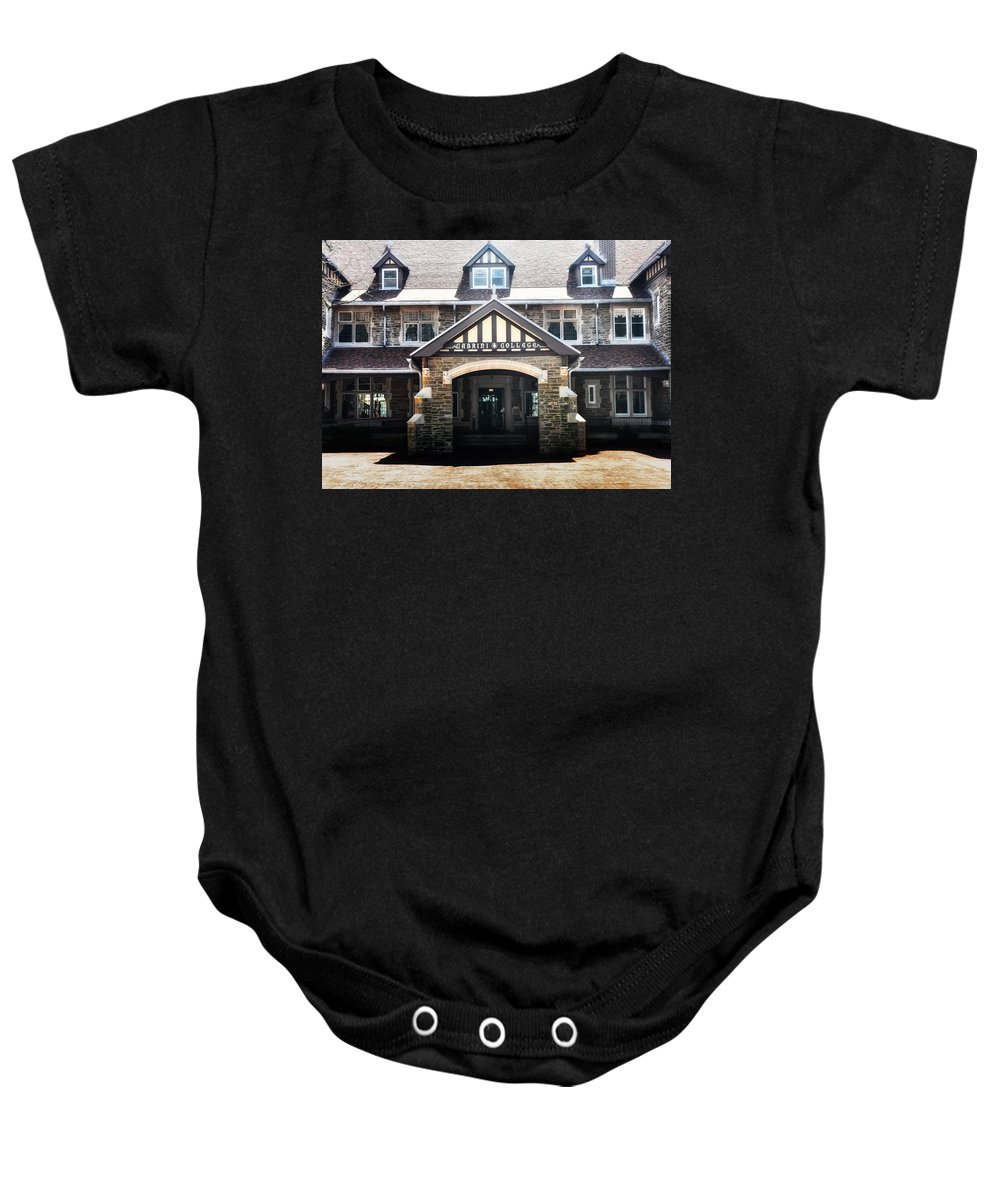 Cabrini Baby Onesie featuring the photograph Cabrini College by Bill Cannon