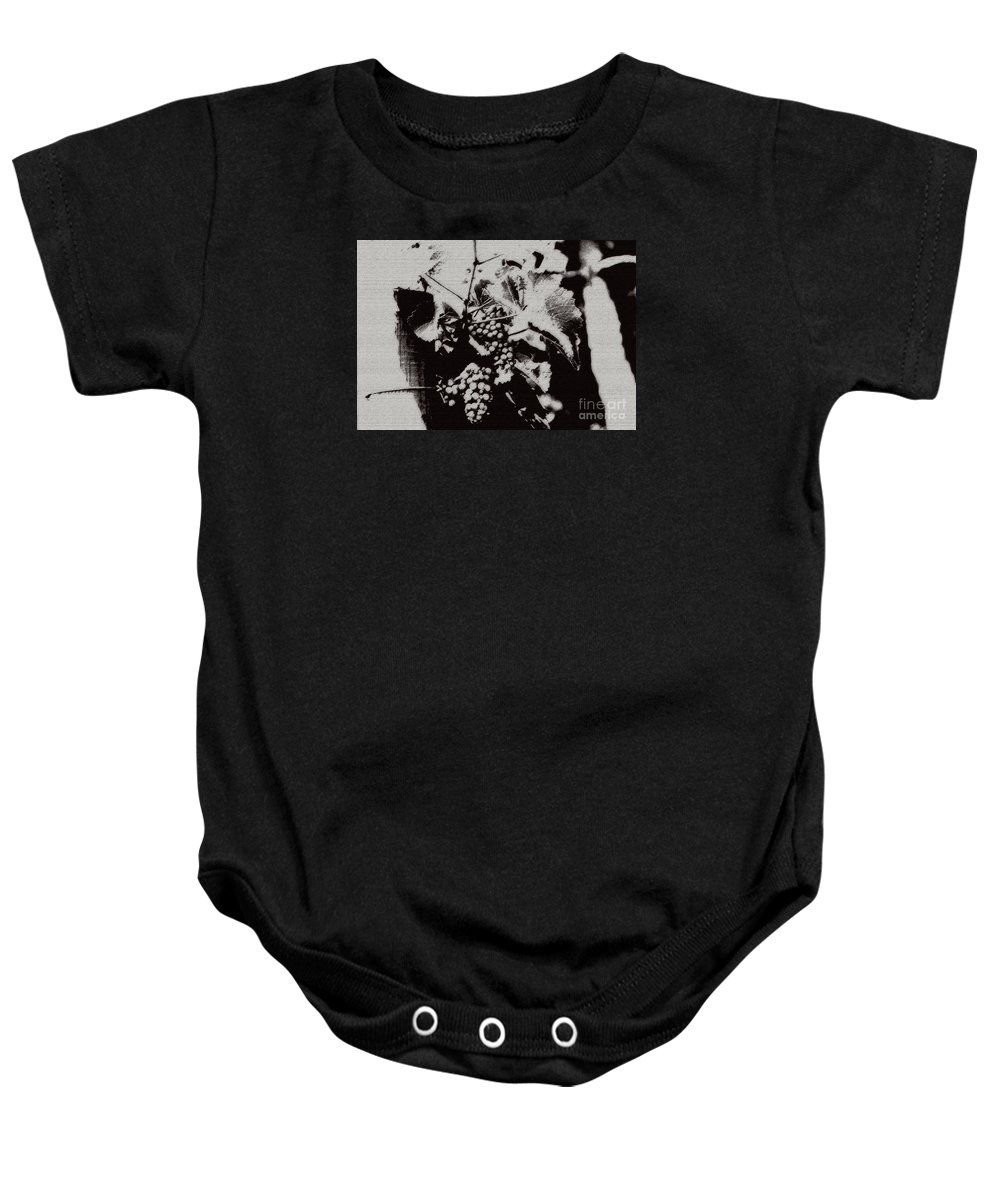 Grape Baby Onesie featuring the photograph California Vineyard by Linda Shafer