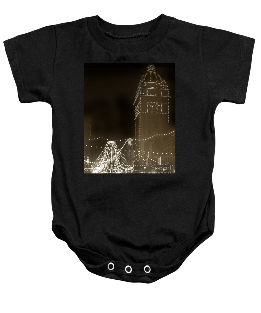 Call Building Baby Onesie featuring the photograph Call Building On Market Street San Francisco California 1902 by California Views Archives Mr Pat Hathaway Archives