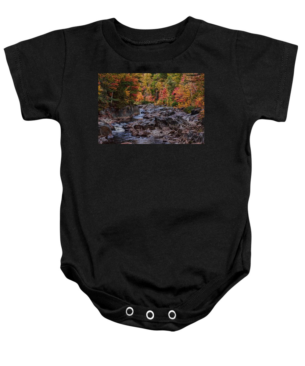 #jefffolger #vistaphotography Baby Onesie featuring the photograph Canyon Color Rushing Waters by Jeff Folger