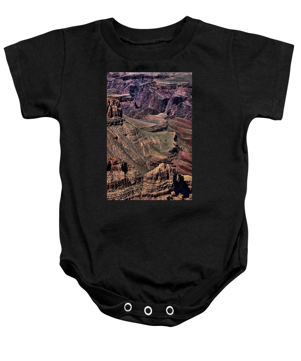 Grand Canyon Baby Onesie featuring the photograph Canyon Walls by Robert McCubbin