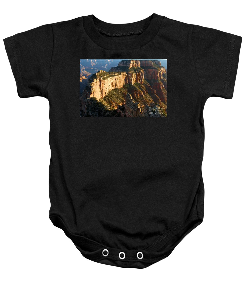 Grand Canyon Baby Onesie featuring the photograph Cape Royal Sunset by Adam Jewell