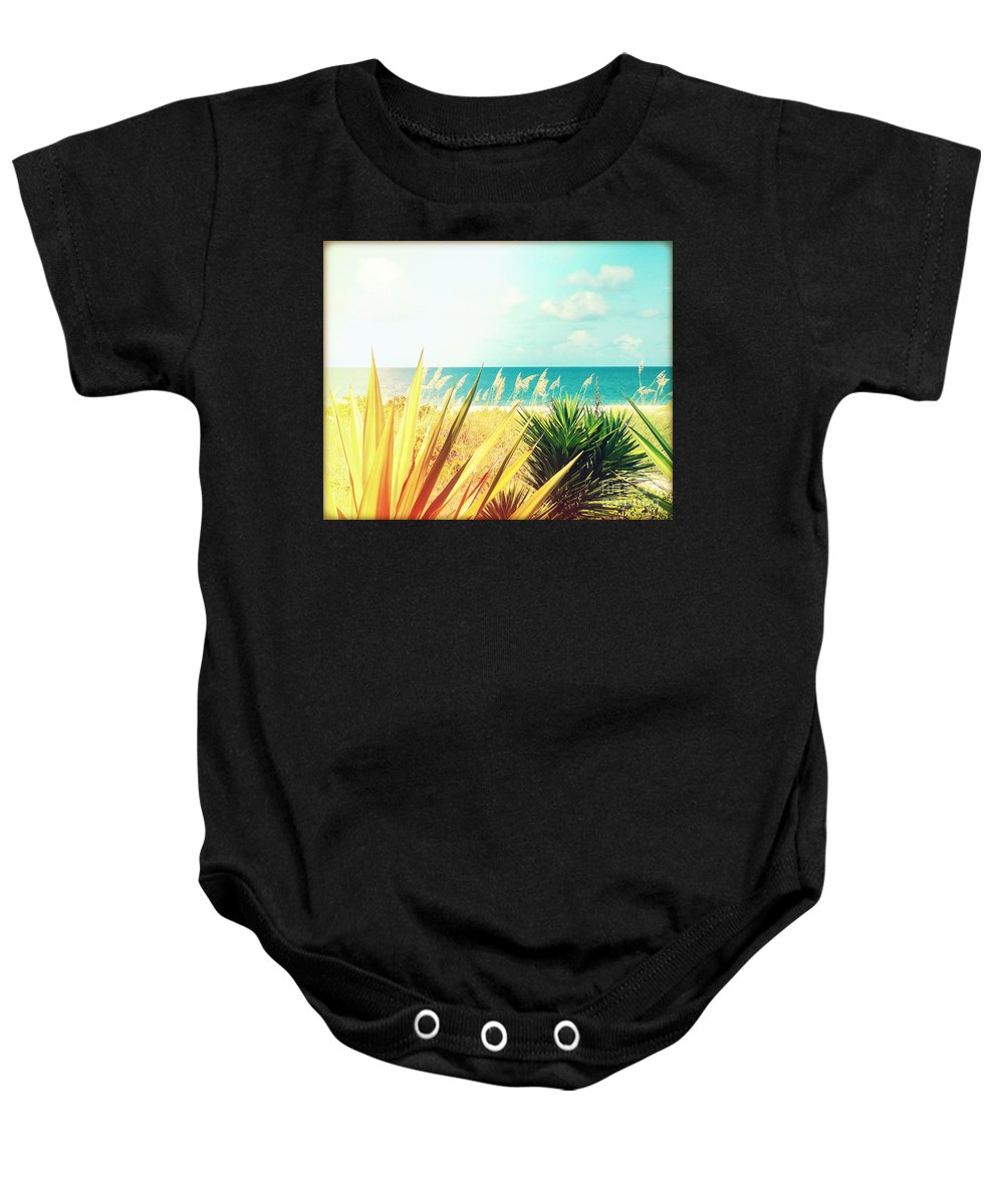 Florida Baby Onesie featuring the photograph Captiva Island Photography Light Leaks by Chris Andruskiewicz
