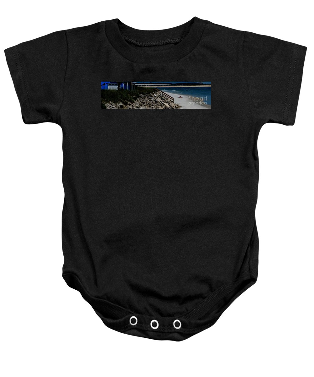 Beach Front Baby Onesie featuring the photograph Caribbean Colors by Greg Patzer