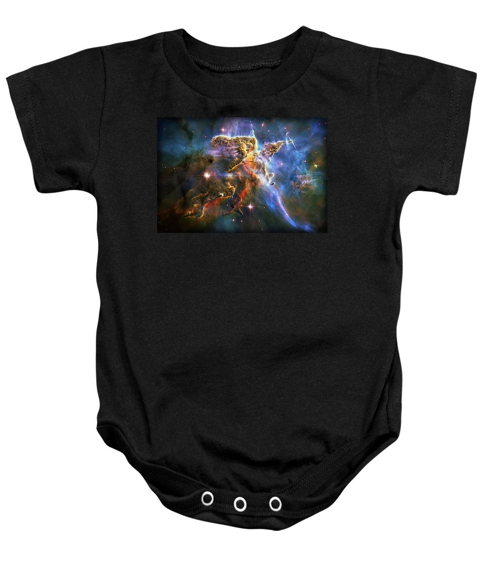 Universe Baby Onesie featuring the photograph Carina Nebula 6 by Jennifer Rondinelli Reilly - Fine Art Photography