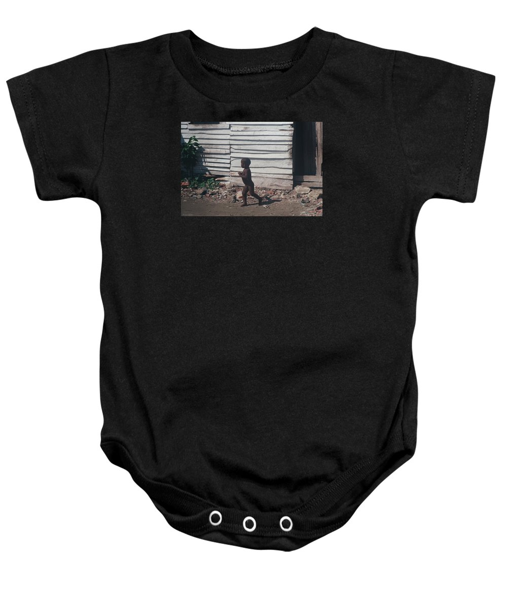 Boy Baby Onesie featuring the photograph Cartagena Child by David Cardona