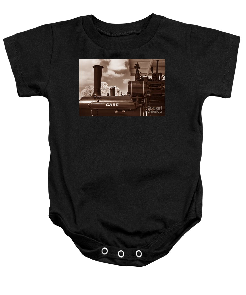Historical Baby Onesie featuring the photograph Case Steam by Paul W Faust - Impressions of Light