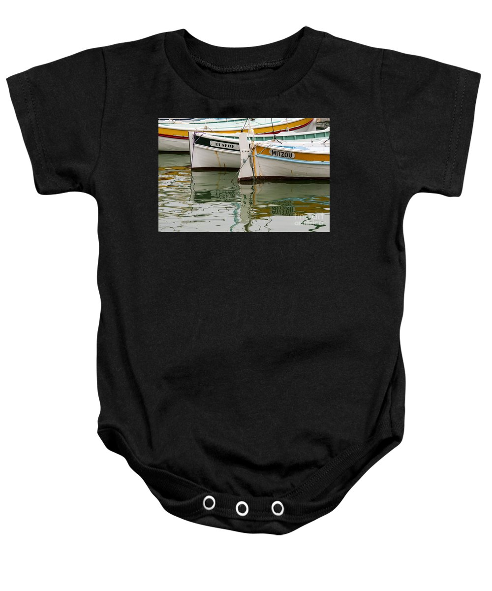 Cassis Baby Onesie featuring the photograph Cassis Calanques by Bob Phillips