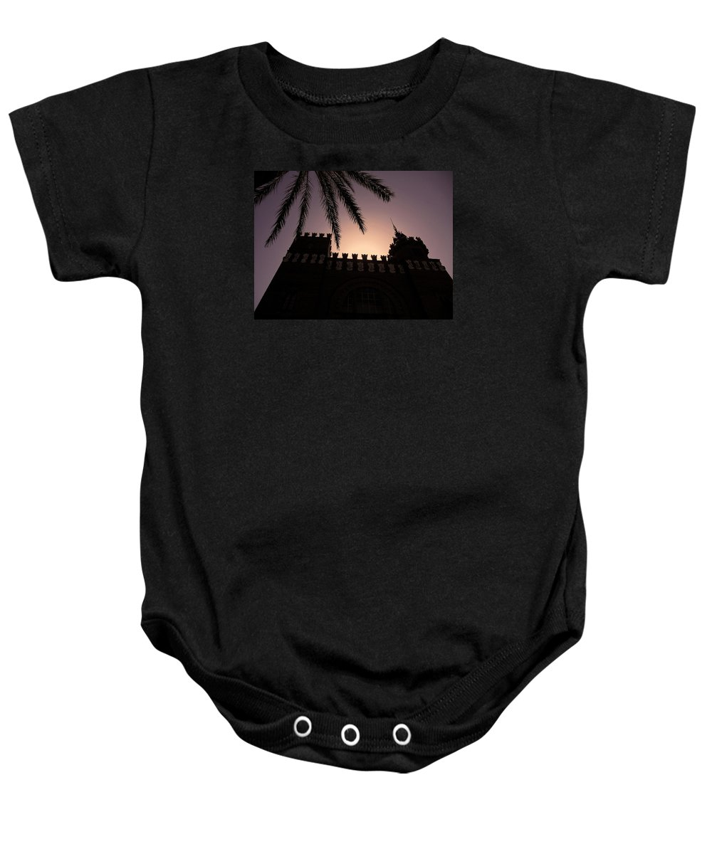Europe Baby Onesie featuring the photograph Castell Dels Tres Dragons ... by Juergen Weiss