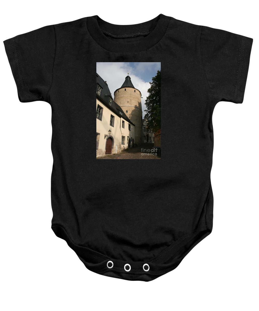 House Baby Onesie featuring the photograph Castle Yard by Christiane Schulze Art And Photography