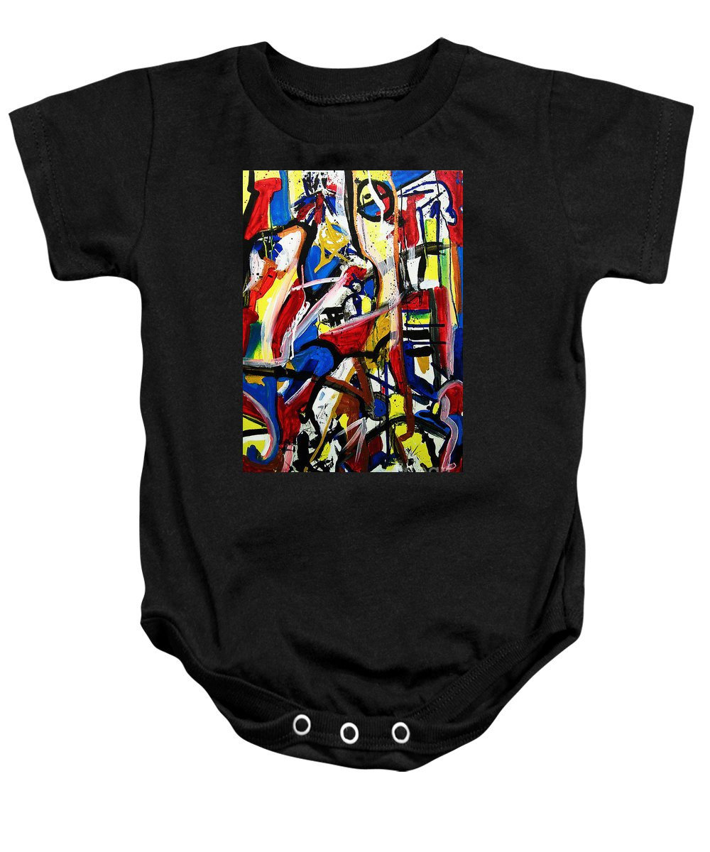 Painting Baby Onesie featuring the painting Catharsis by Jeff Barrett