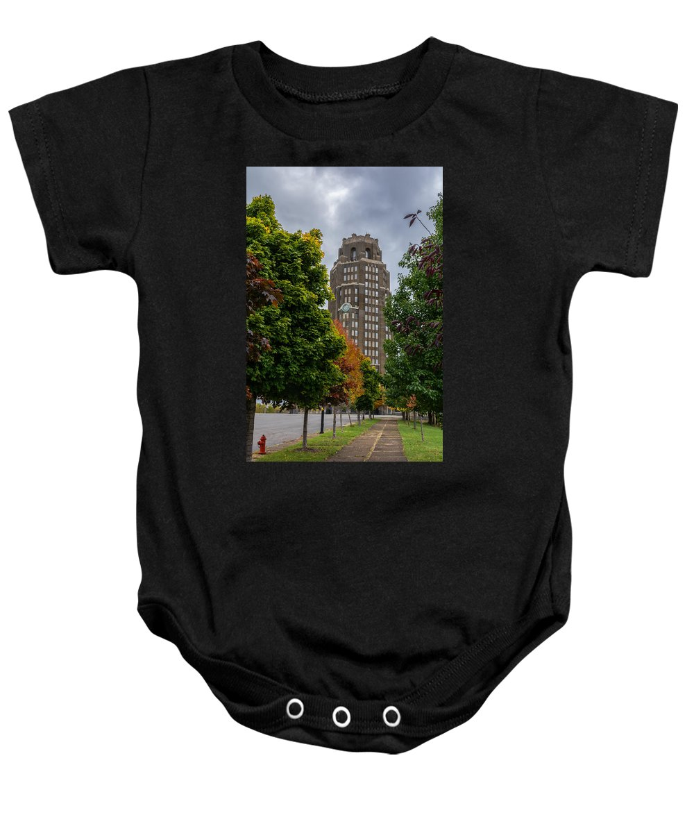 Buffalo Baby Onesie featuring the photograph Central Terminal 7k03051 by Guy Whiteley