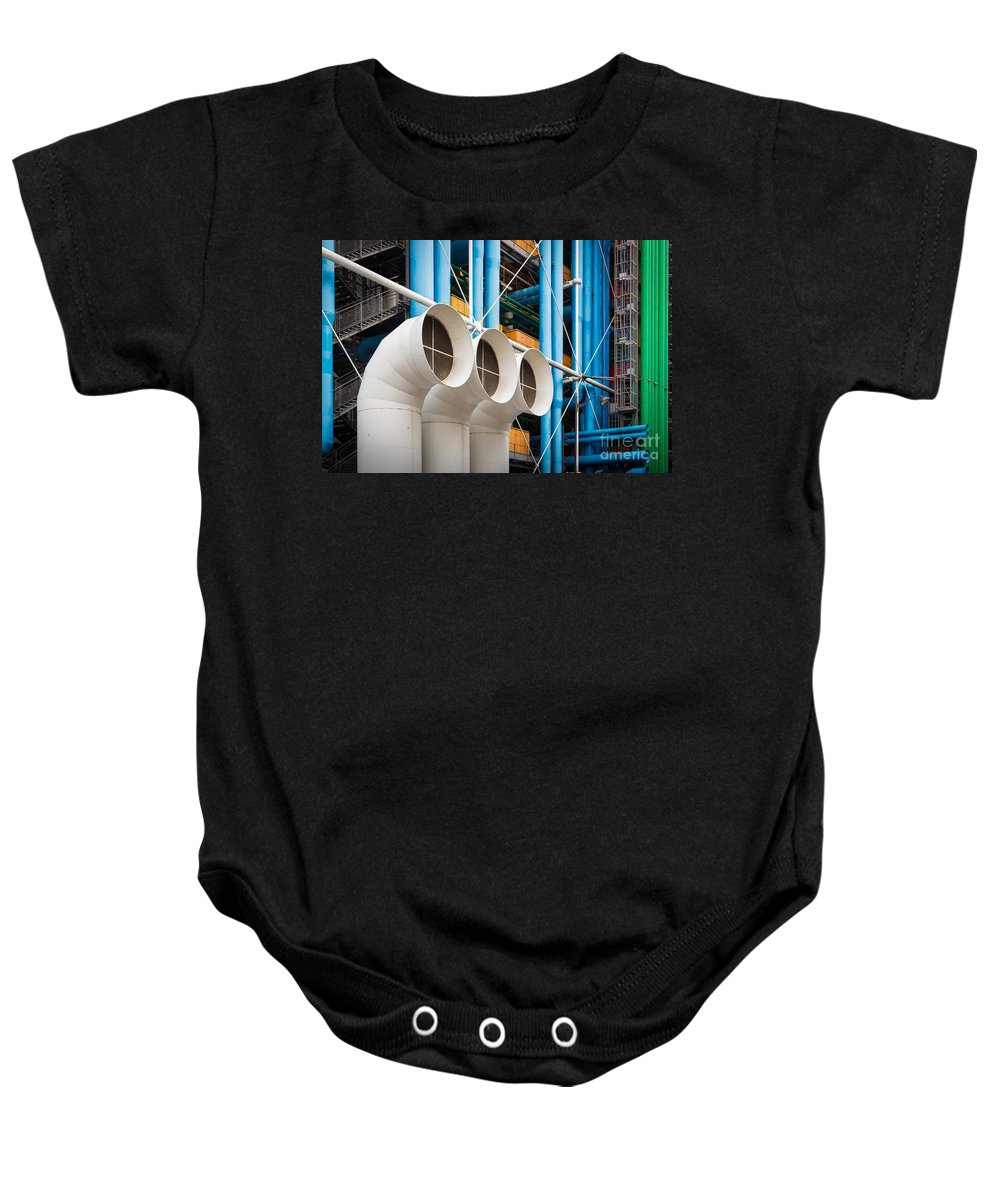 Europa Baby Onesie featuring the photograph Centre Pompidou by Inge Johnsson
