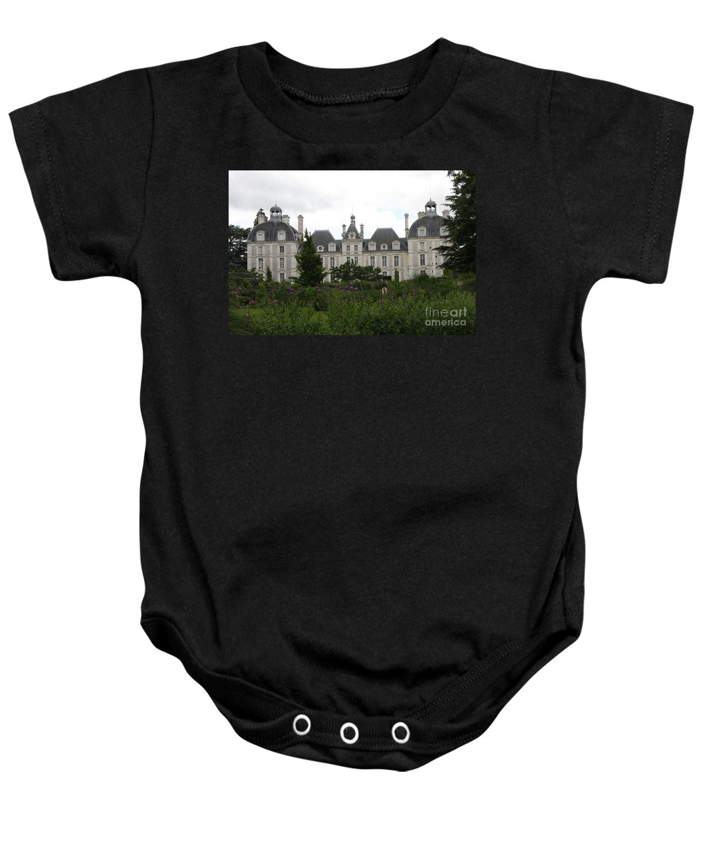 Palace Baby Onesie featuring the photograph Chateau Cheverney by Christiane Schulze Art And Photography