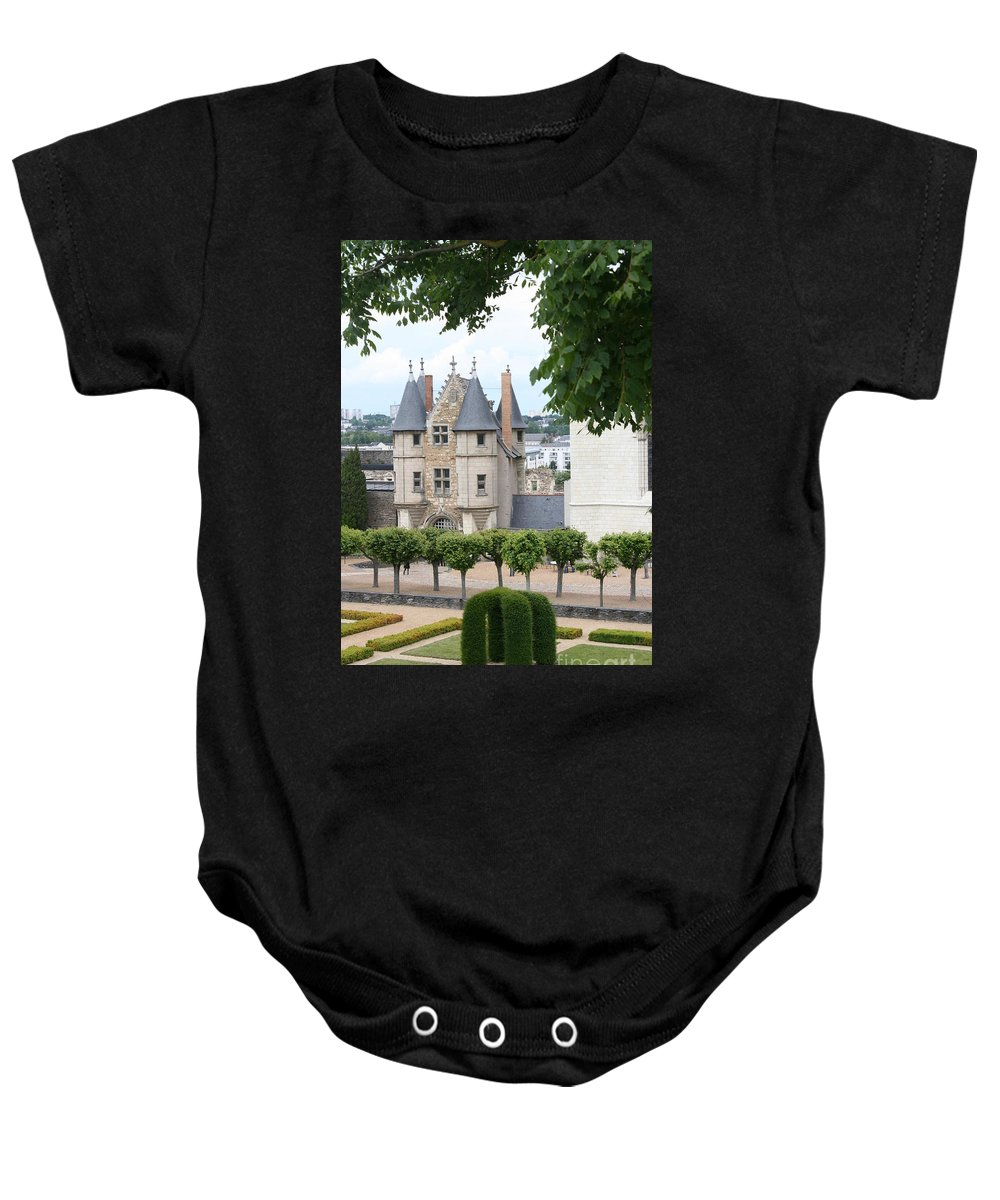 Castle Baby Onesie featuring the photograph Chateau D'angers - Chatelet View by Christiane Schulze Art And Photography