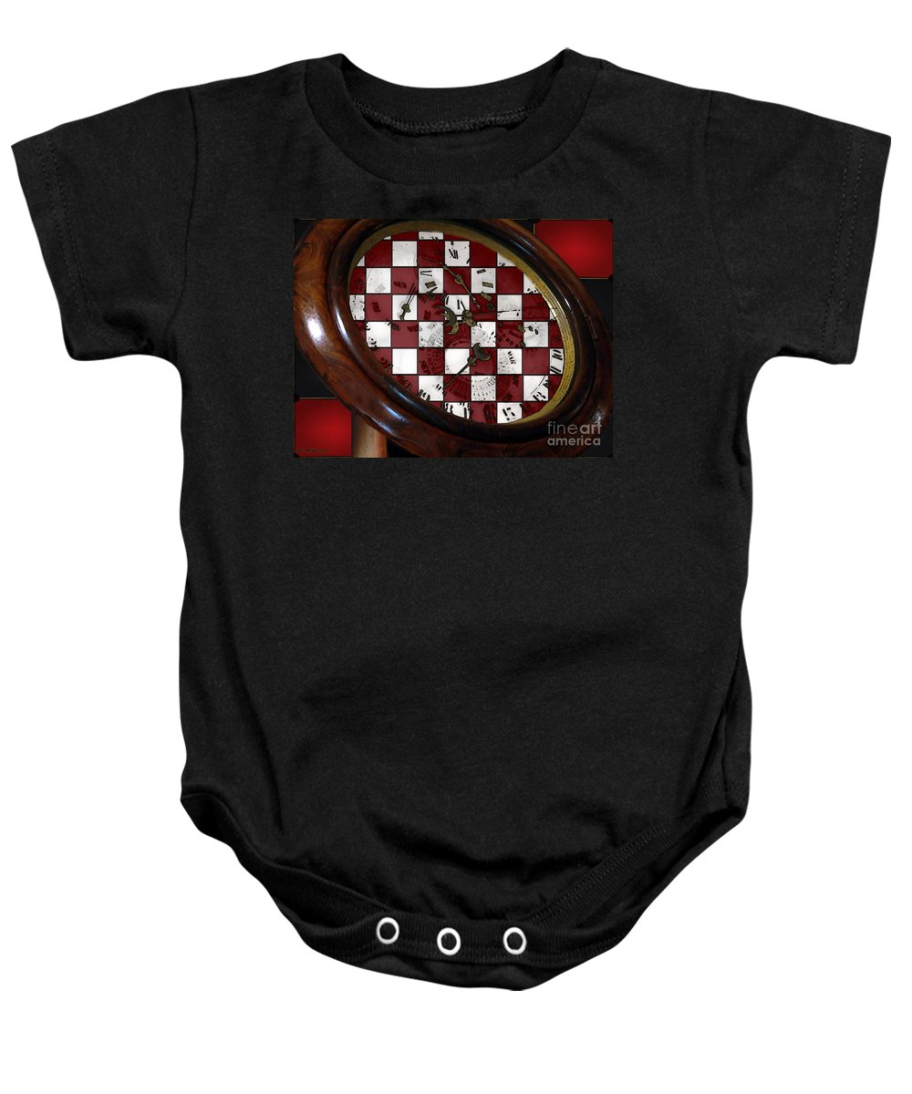 Antique Baby Onesie featuring the painting Checkmate by RC DeWinter