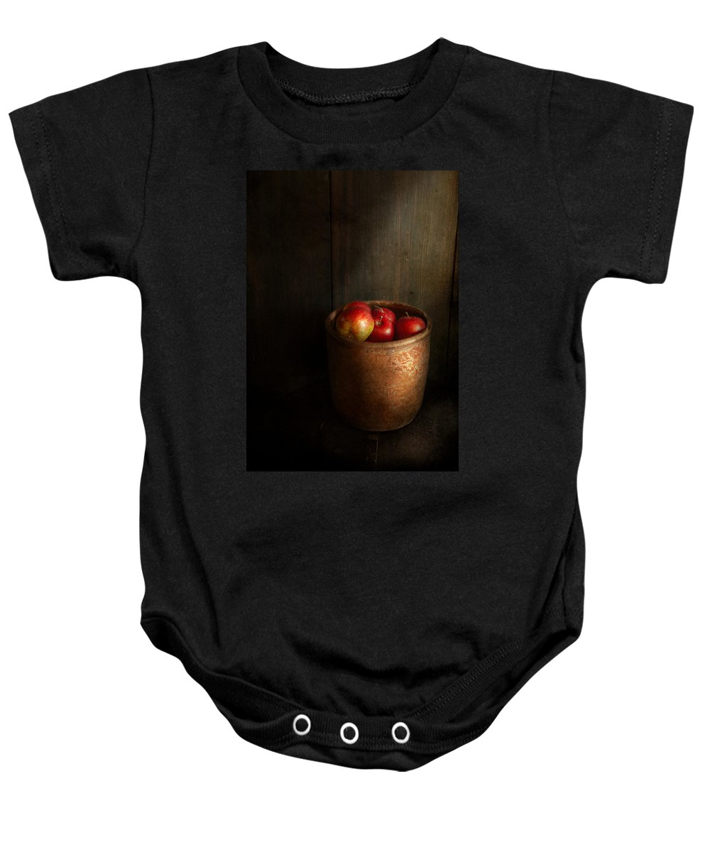 Hdr Baby Onesie featuring the photograph Chef - Fruit - Apples by Mike Savad