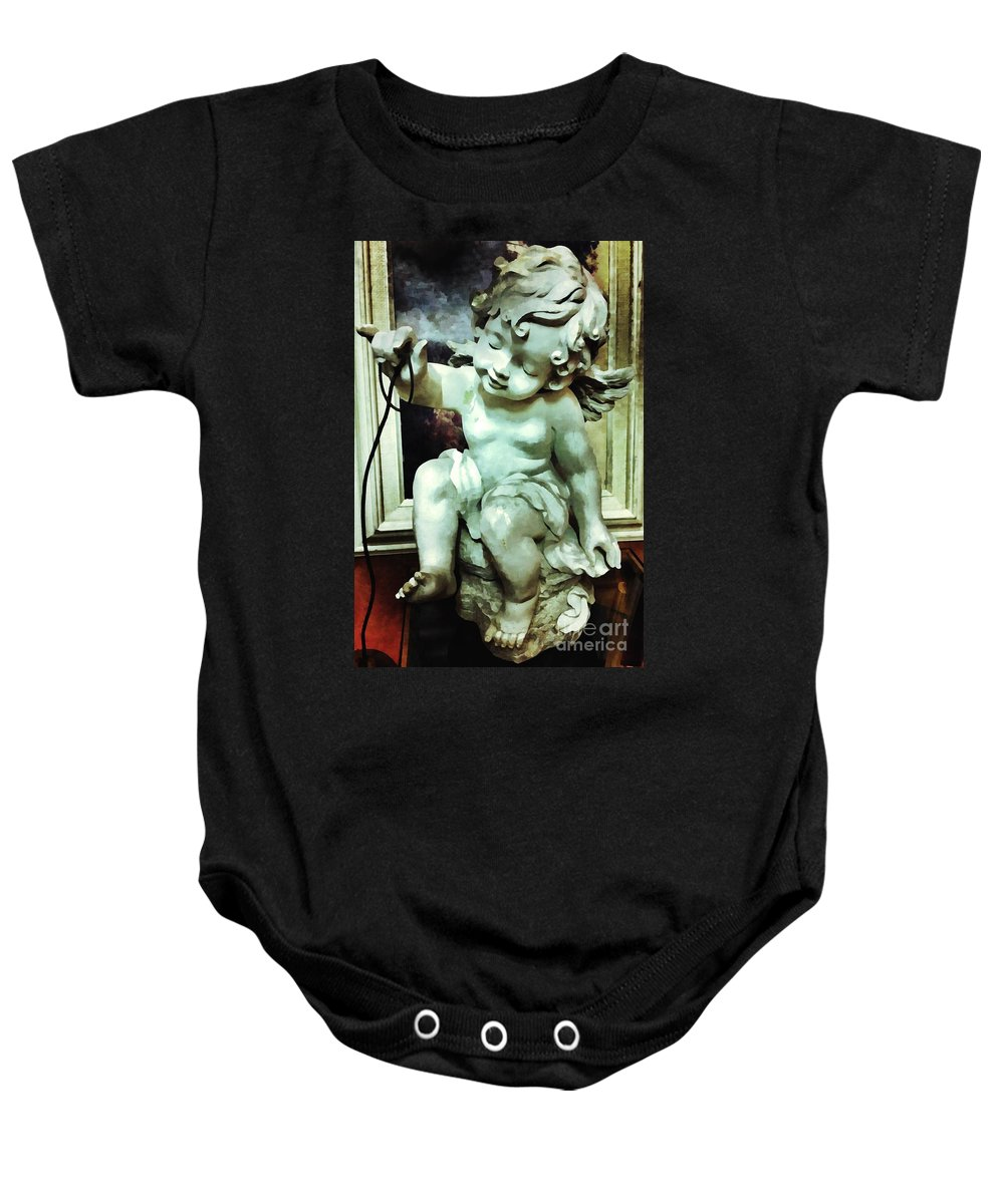 Cherub Baby Onesie featuring the photograph Cherub At Play by Saundra Myles