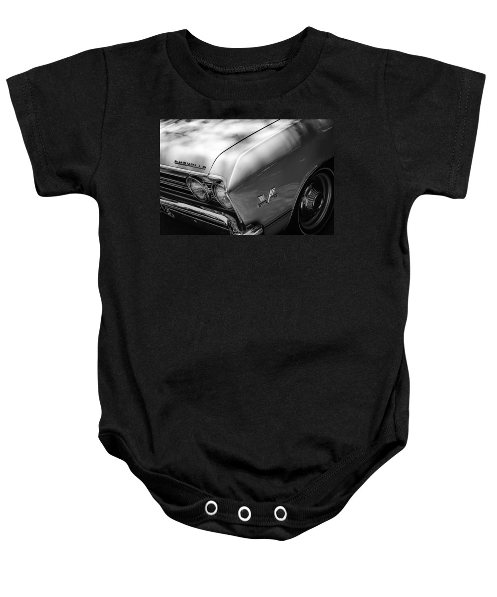 Chevrolet Chevelle Ss Grille Emblems Baby Onesie featuring the photograph Chevrolet Chevelle Ss Grille Emblems by Jill Reger