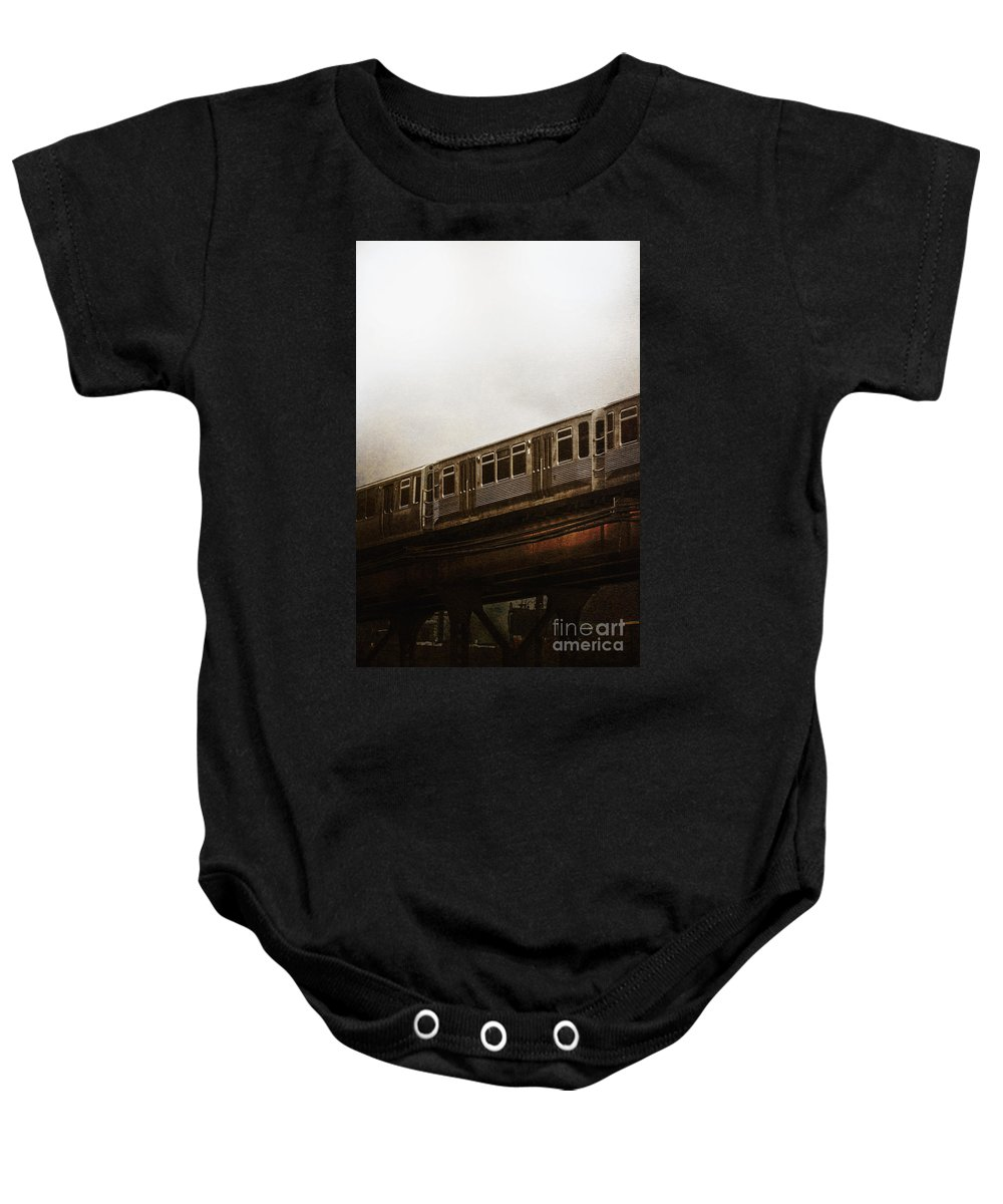 Rail Baby Onesie featuring the photograph Chicago El by Margie Hurwich