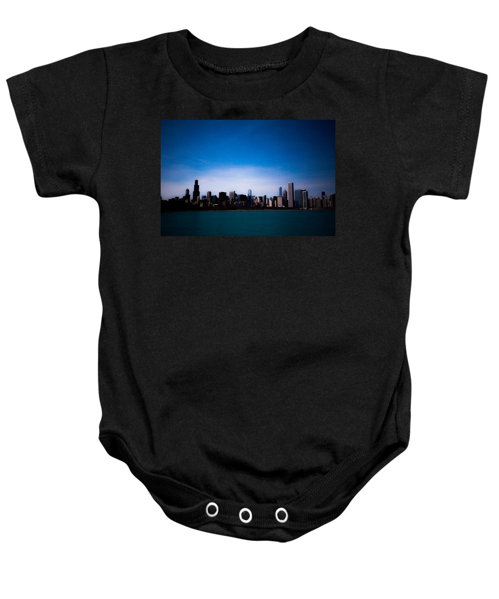Baby Onesie featuring the photograph Chicago by Sue Conwell