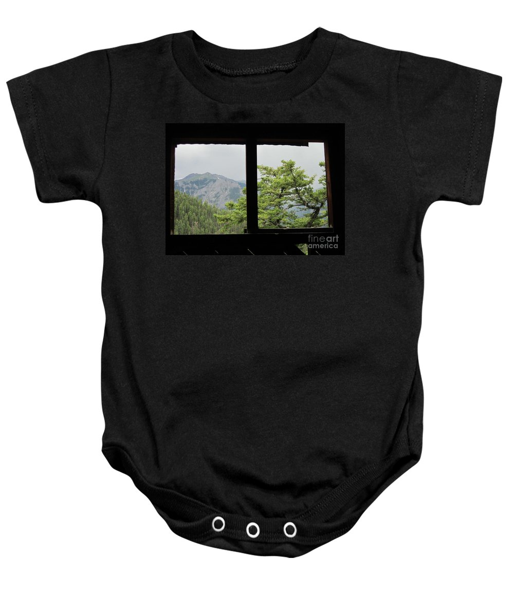 Chief Ouray Mine Baby Onesie featuring the photograph Chief Ouray Mine View by Tonya Hance
