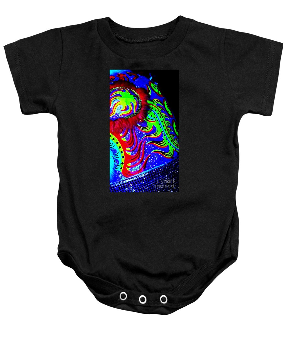Chinese Baby Onesie featuring the photograph Chinese Tapestry Abstract by Eric Schiabor