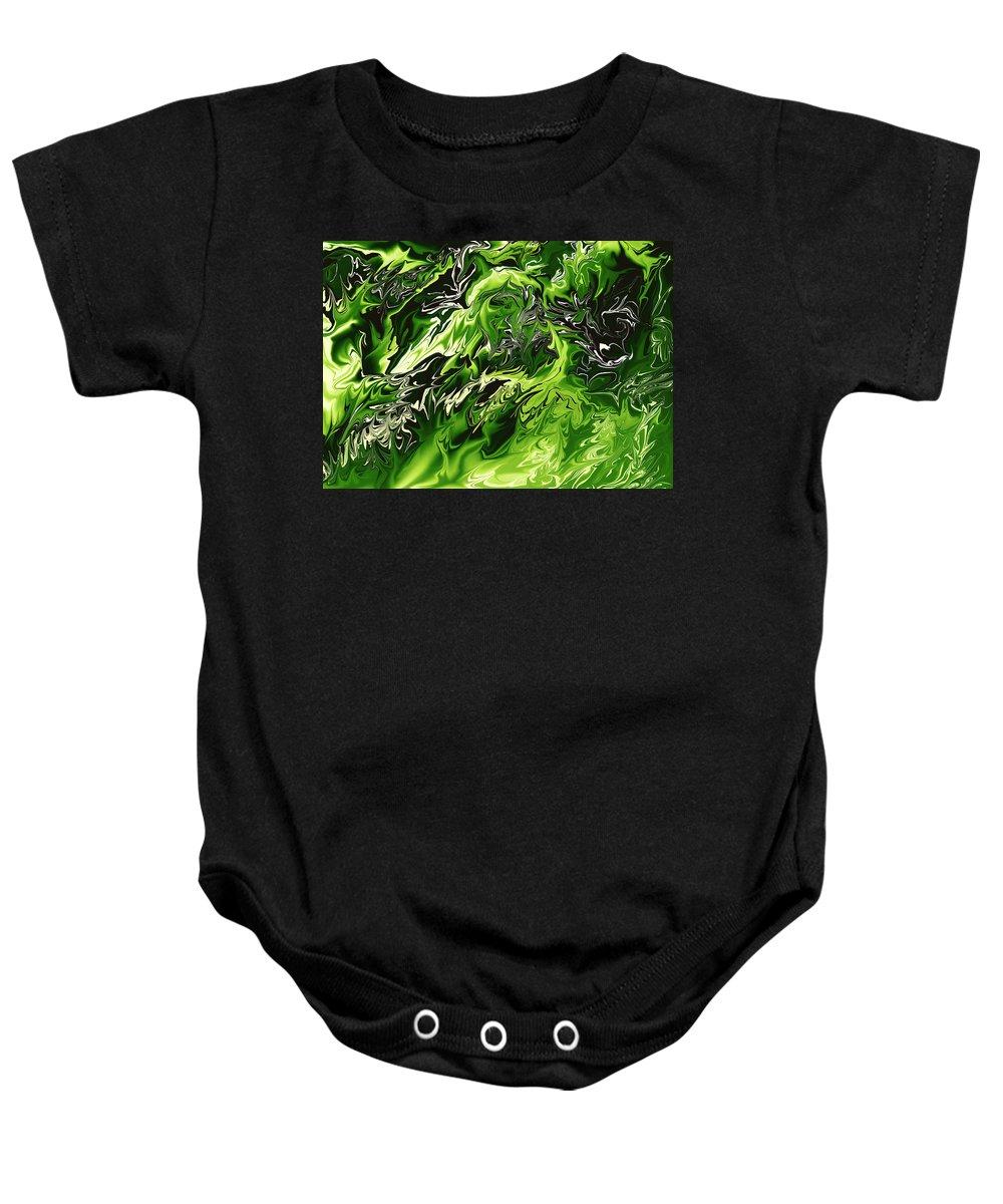 Colors Baby Onesie featuring the digital art Chlorophylle by Lyriel Lyra