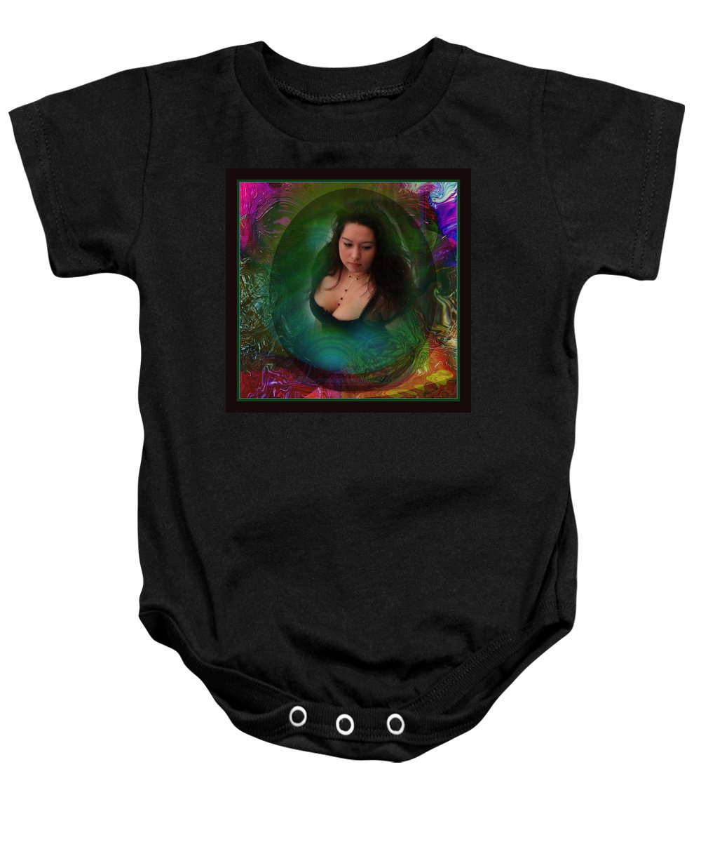 Semi-abstract Baby Onesie featuring the digital art Christan I by Otto Rapp