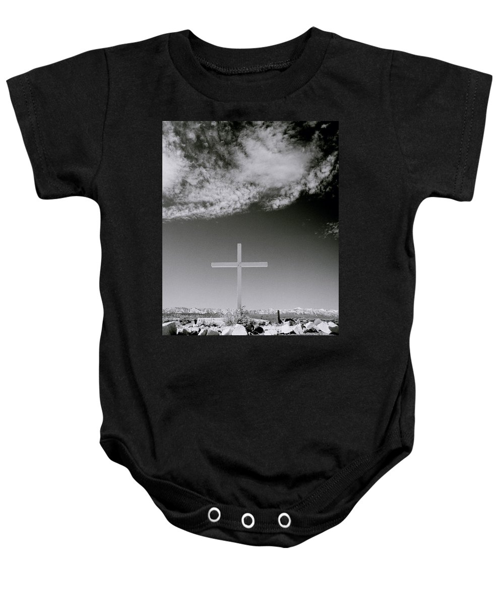 Christian Baby Onesie featuring the photograph Christian Grave by Shaun Higson