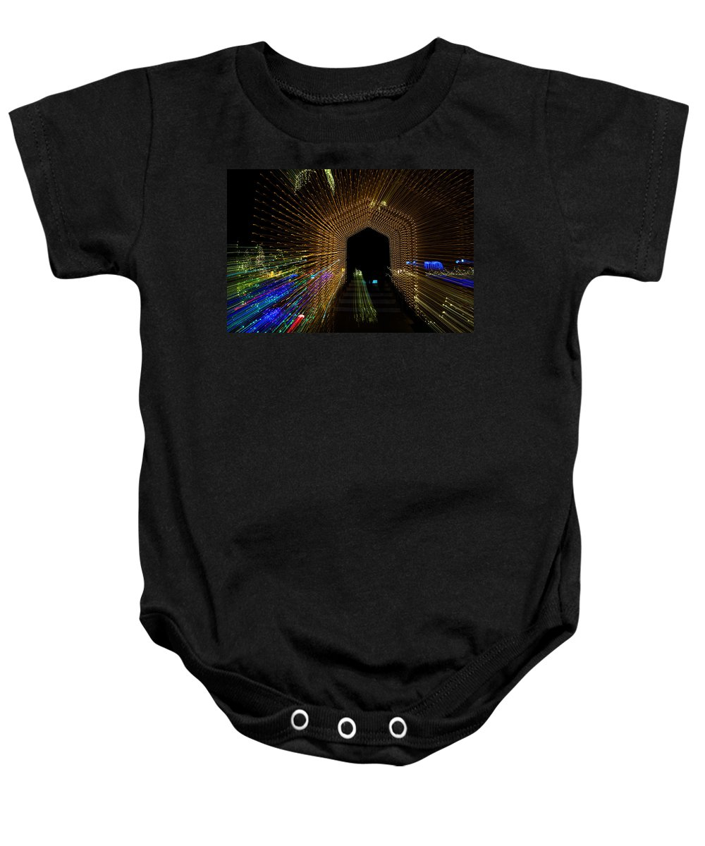 Christmas Baby Onesie featuring the photograph Christmas Arch Zoom by Tam Ryan