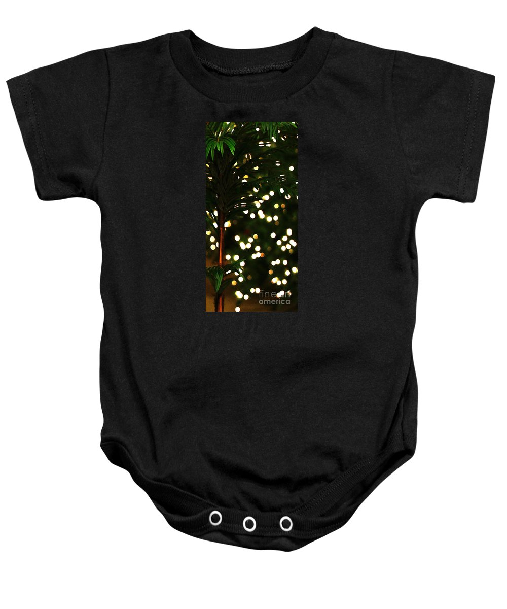 Christmas Baby Onesie featuring the photograph Christmas Palm by Linda Shafer