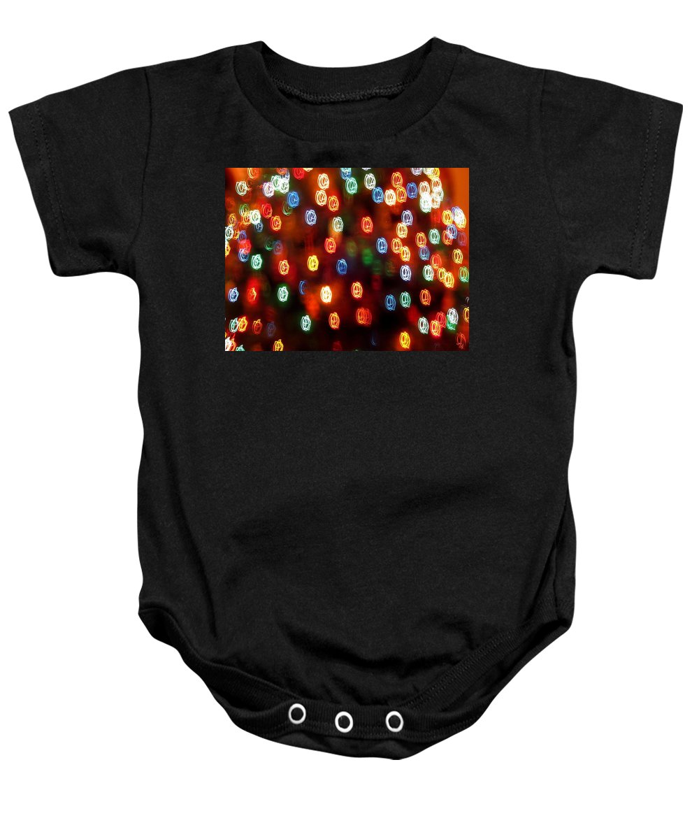 Christmas Lights Baby Onesie featuring the photograph Christmas Polka Dots by Rick Locke
