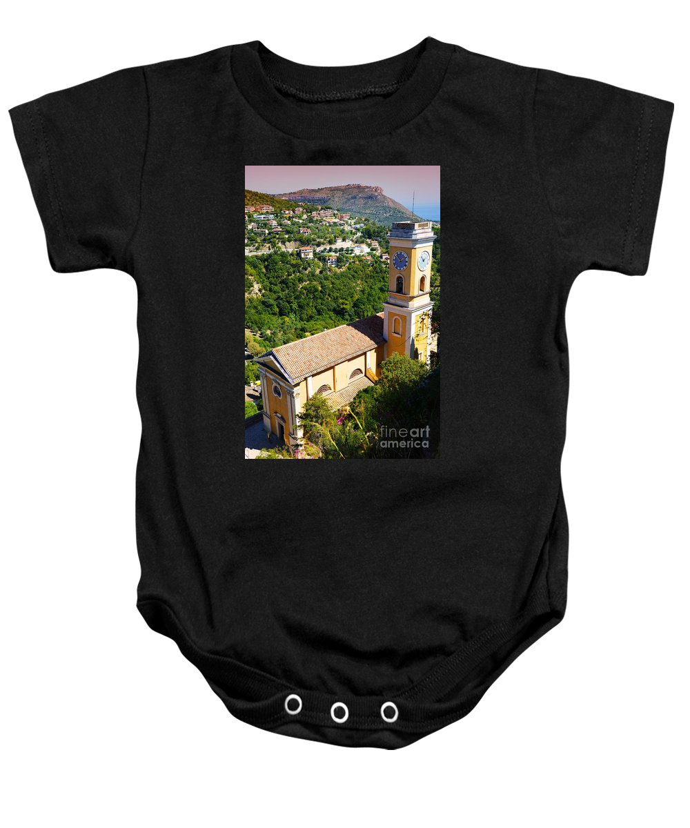 Church Baby Onesie featuring the photograph Church At Eze by Phill Petrovic