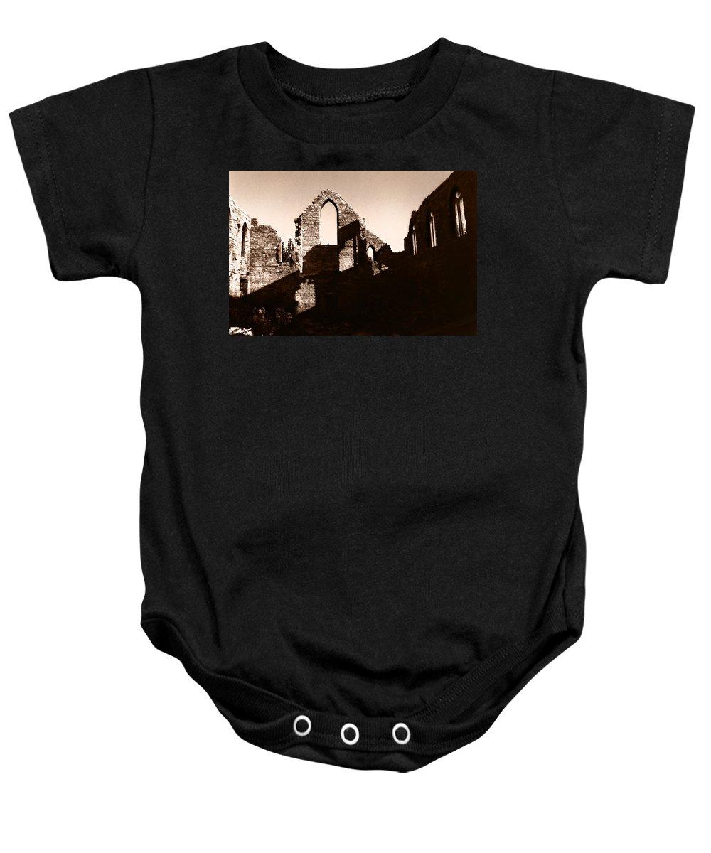 Church Baby Onesie featuring the photograph Church Ruins by Trachenberg Trachenberg