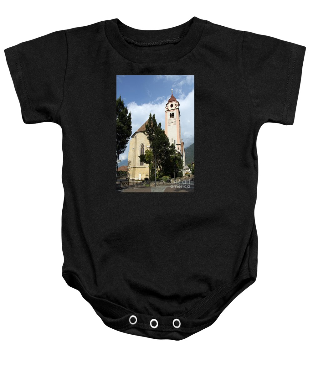 Church Baby Onesie featuring the photograph Church Village Tirol by Christiane Schulze Art And Photography
