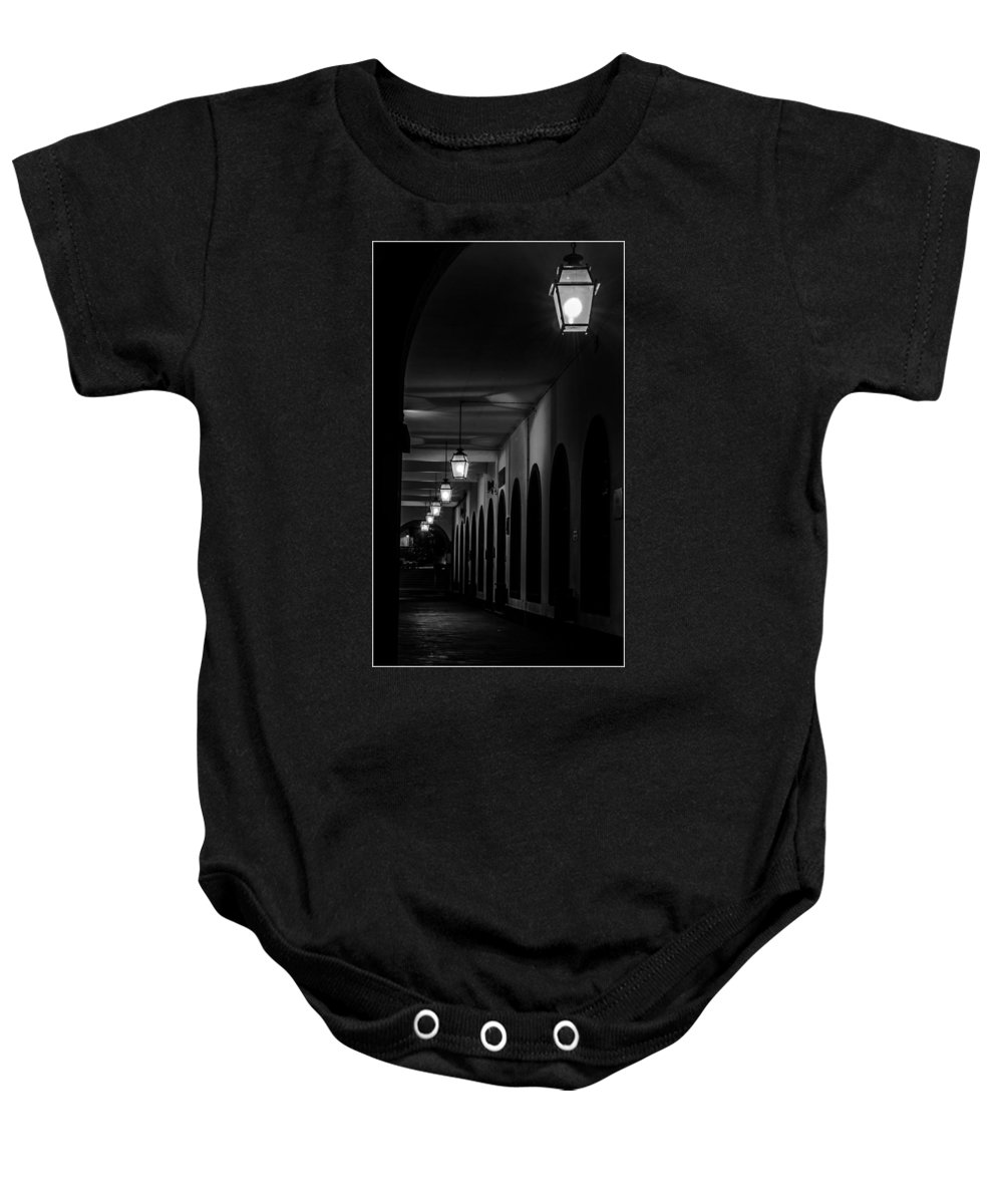 Downtown Baby Onesie featuring the photograph City Arches by M Bernardo