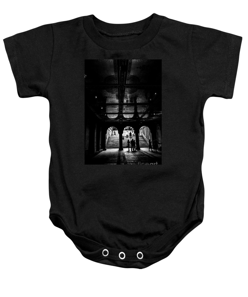 Streets Of New York Baby Onesie featuring the photograph City Life Nyc by Digital Kulprits