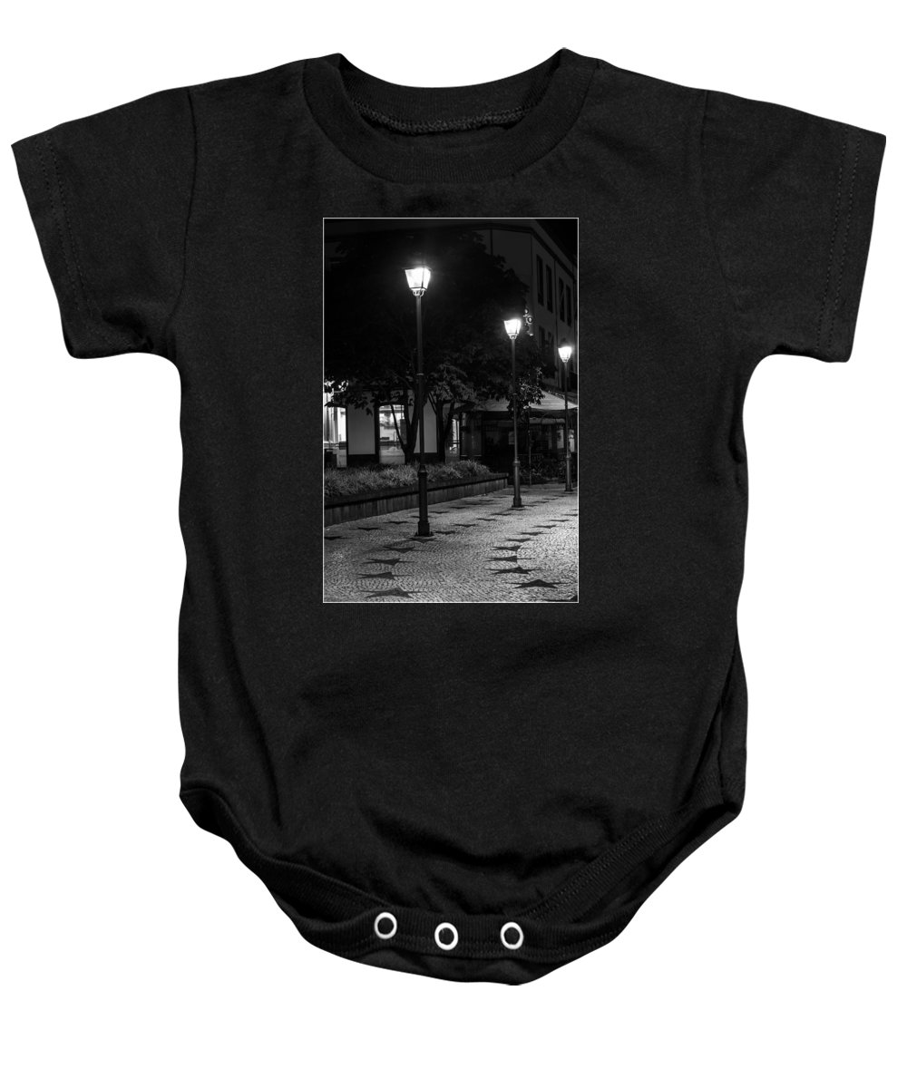 Lamps Baby Onesie featuring the photograph City Lights by M Bernardo