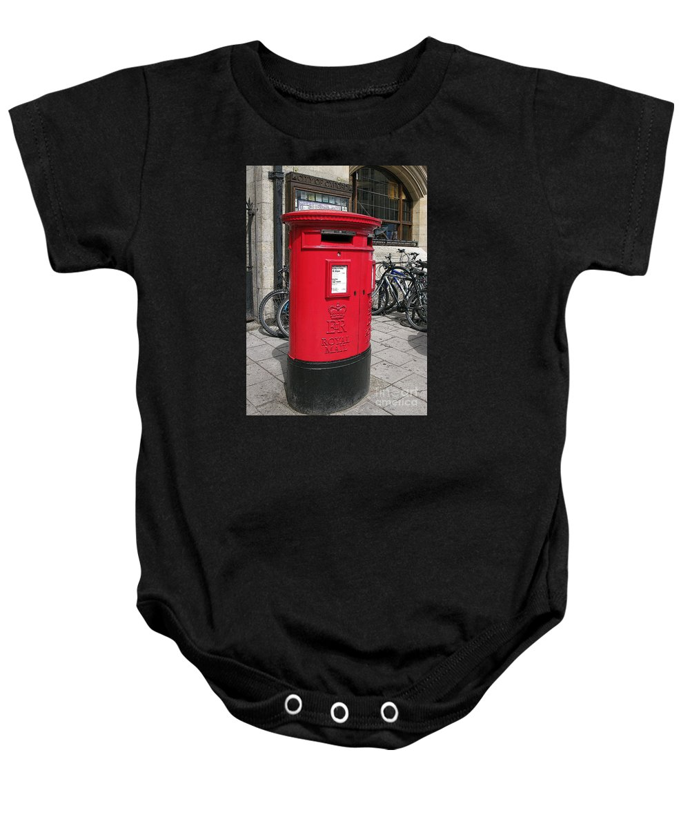 Oxford Baby Onesie featuring the photograph City Of Oxford by Ann Horn