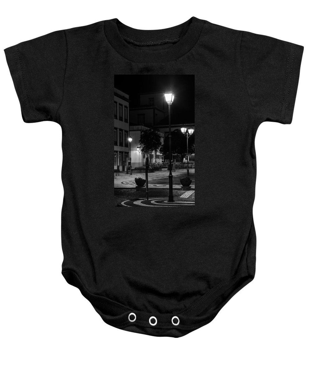 Lamps Baby Onesie featuring the photograph City Square by M Bernardo
