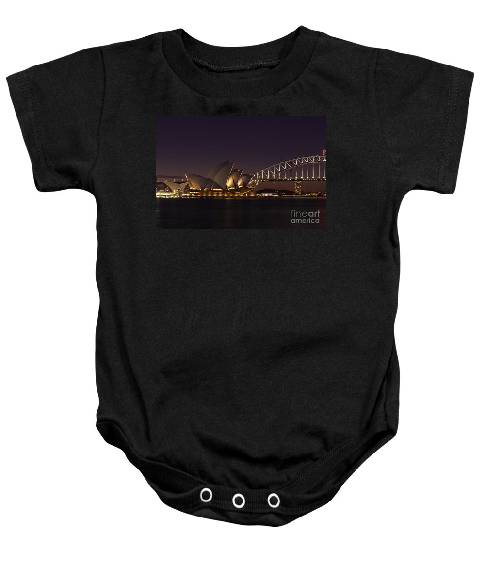 Sydney Baby Onesie featuring the photograph Classic Elegance by Andrew Paranavitana