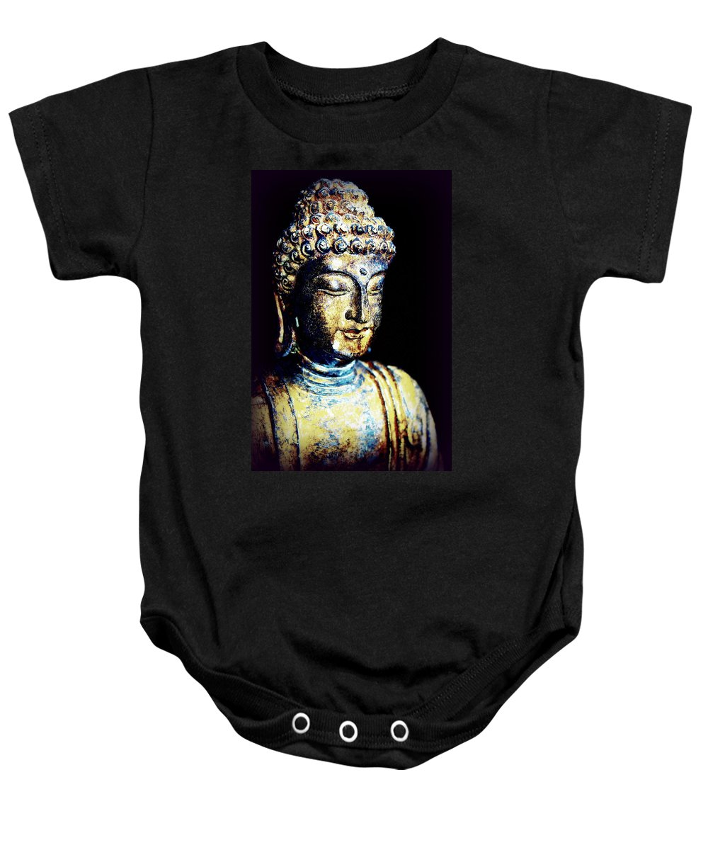 Meditate Baby Onesie featuring the photograph Clear Mind by Faith Williams