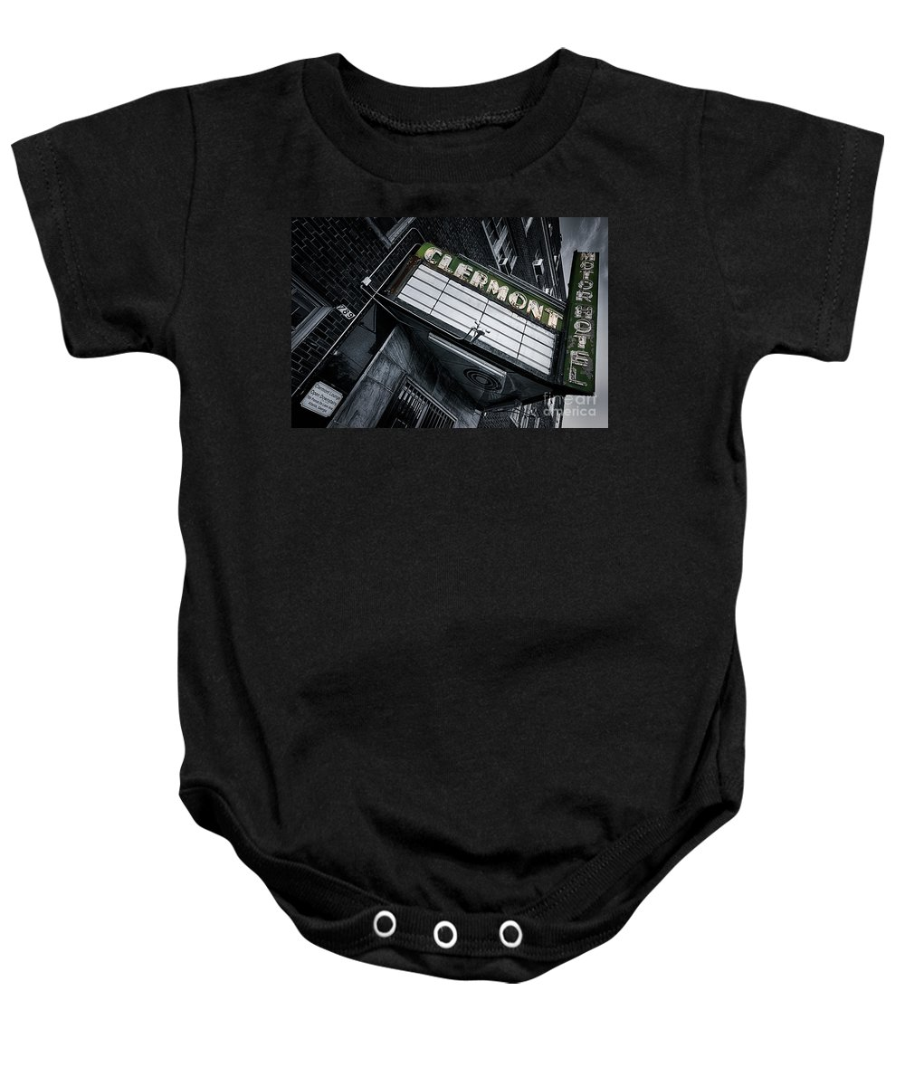 Clermont Hotel Baby Onesie featuring the photograph Clermont Hotel by Doug Sturgess