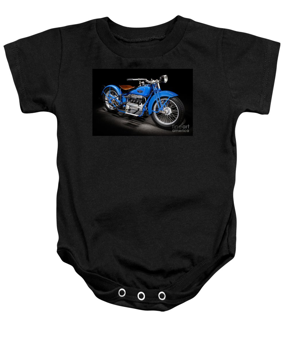 Motorcycle Baby Onesie featuring the photograph Cleveland Tornado by Frank Kletschkus