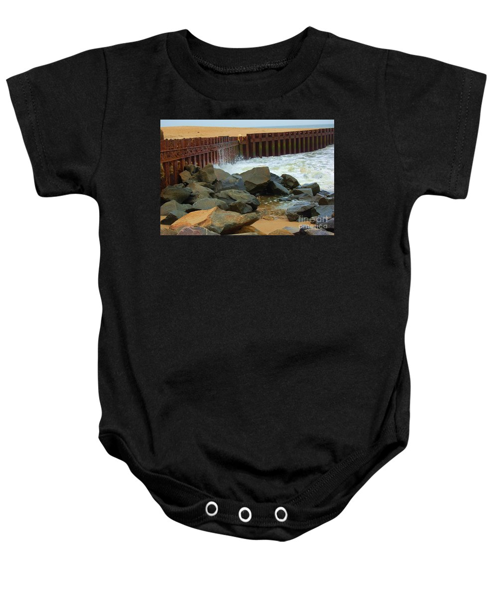 Water Baby Onesie featuring the photograph Coast Of Carolina by Debbi Granruth