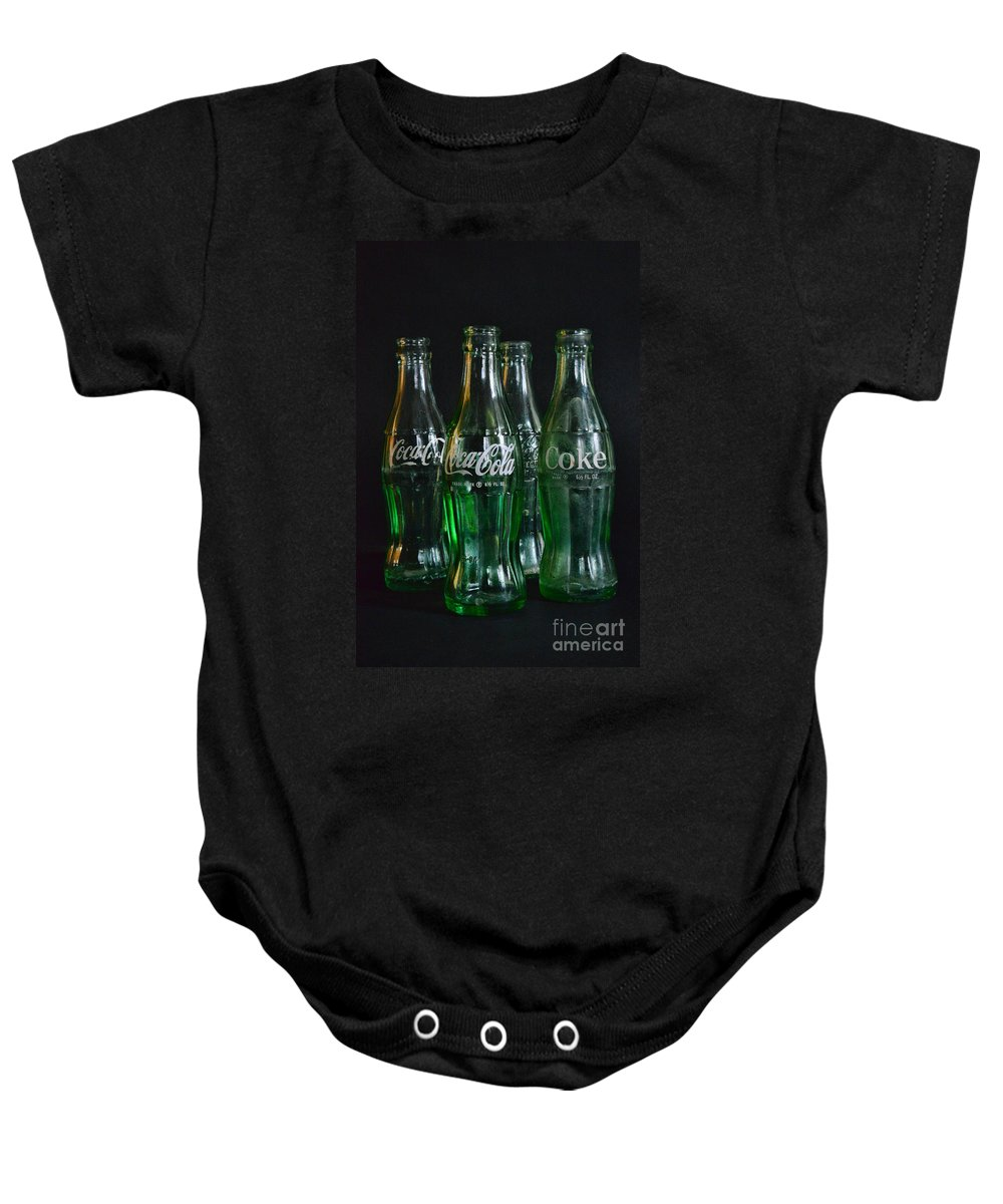 Paul Ward Baby Onesie featuring the photograph Coke Bottles From The 1950s by Paul Ward